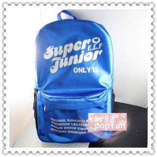 SJ SUPER JUNIOR E.L.F KPOP BLUE SCHOOLBAG BACKPACK TYPE B NEW