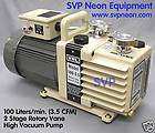 MIN) 2 STAGE OIL SEALED HIGH VACUUM PUMP VRL ALCATEL EDWARDS WELCH
