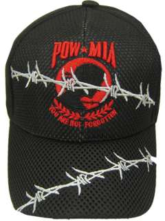 POW MIA BARB WIRE ARMY NAVY AIR FORCE MARINES USCG HAT