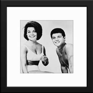 Frankie Avalon & Annette Funicello Custom Framed And