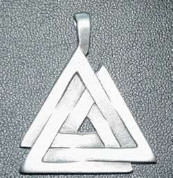 Alchemy Gothic God Odin Death Knot Large silver charm