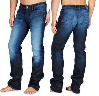 NEW DIESEL BRAND MENS BOOT CUT JEANS VIKER 882V DARK BLUE ALL SIZES X