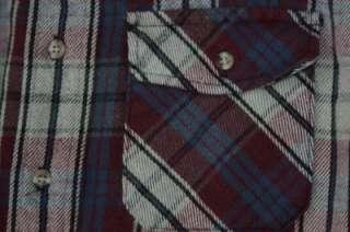 Vtg Deerskin Plaid Flannel Quilted Shirt Jacket Men M
