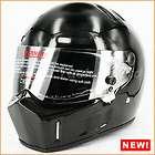 Street Bandit Alien FRP Black Solid Full Face Motorcycle Helmet DOT M
