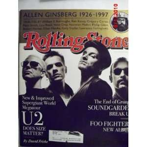 Rolling Stone Magazine, Issue 761, U2 Cover Jann S. Wenner Books