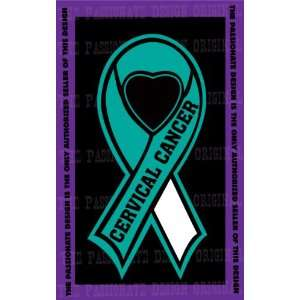 Cervical Cancer Ribbon Decal 8 X 14