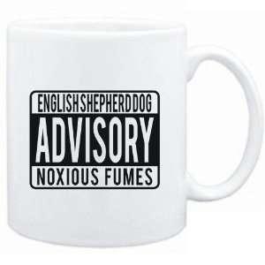 Mug White  English Shepherd Dog ADVISORY NOXIOUS FUMEs