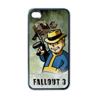 New* FALLOUT PIP BOY iPHONE 4 Black CASE Opt. Design