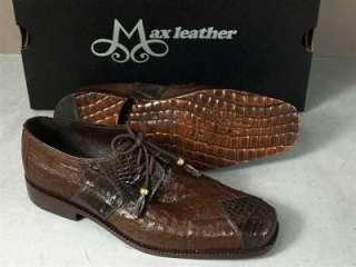 Max Caiman Alligator/Ostrich Dress Shoes 9.5 D NEW $750