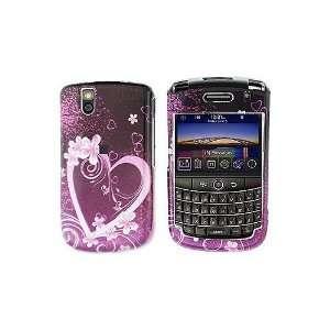 New Pink Purple Heart Flower Art Design Snap on Hard Skin