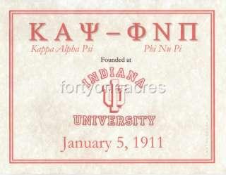 FOUNDED AT Series   Kappa Alpha Psi Print   INDIANA U