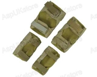 Tactical Knee&Elbow Protective Pads Set Ver2 Tan  AG