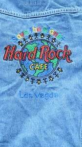 HARD ROCK CAFE SAVE THE PLANET LAS VEGAS JEAN JACKET MISSES SIZE10