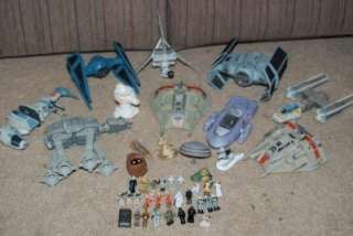 Star Wars Micro Machine miniature star fleet vehicles base lot