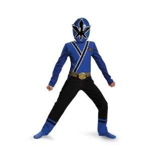Blue Samurai Power Ranger Costume and Sword Gift Set (Size