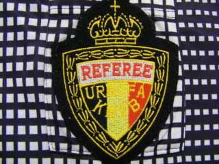 adidas L/S KBVB BELGIAN BLACK REFEREE FOOTBALL SOCCER SHIRT JERSEY