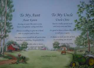 AUNT & UNCLE PERSONALIZED POEM CHRISTMAS GIFT IDEA