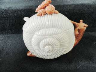 Vintage 1975 Fitz & Floyd Soup Tureen Nautilus Shell With Snail Shells