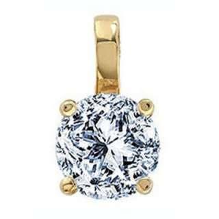 30   0.60Ct Solitaire Diamond Pendant.18k White/ Yellow Gold