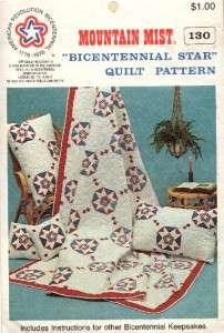 Vintage Mountain Mist Bicentennial Star Quilt Pattern