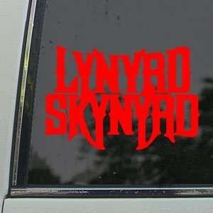 Lynyrd Skynyrd Red Decal Souhern Rock Band Car Red