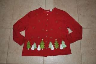 UGLY CHRISTMAS CARDIGAN SWEATER STITCHED EXTRA LARGE LADIES WOMENS