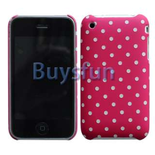 Polka Dot Hard Case Cover For Apple iPhone 3G 3GS & screen protector