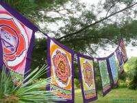 Chakra Yoga Prayer meditation Garden Flag banner Batik Balinese Hindu