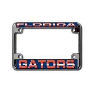 University of Florida Gators NCAA Chrome Motorcycle RV License Plate