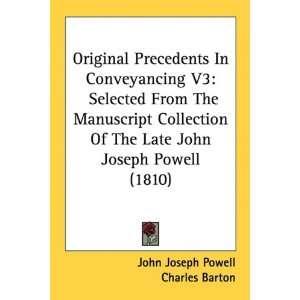 (1810) (9781436885515): John Joseph Powell, Charles Barton: Books