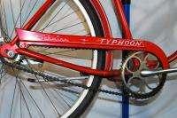 Vintage Schwinn Typhoon middleweight bicycle bike Flamboyant Red 26
