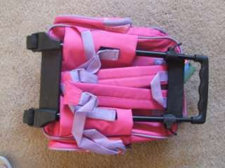 GIRL PINK BLUE ROLLING SUITCASE&BACKPACK STURDY LUGGAGE