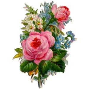 VICTORIAN DIE CUT FLOWERS 14B CROSS STITCH CHART: Home & Kitchen