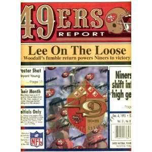 San Francisco 49ers Report December 4 1995 New 49ers Logo Cover