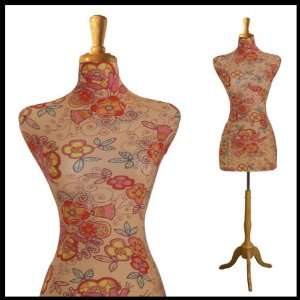 NEW FEMALE DECORATIVE DRESS FORM MANNEQUIN PRINT FABRIC