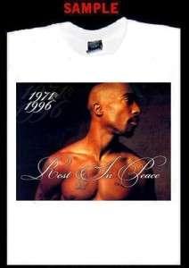 TUPAC SHAKUR RIP CUSTOM PHOTO T SHIRT TEE rap 2pac 64