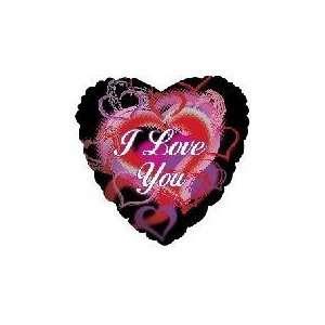 You Pop Hearts Black M414   Mylar Balloon Foil