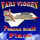 PEANUT SCALE VARI VIGGEN SCALE MODEL AIRPLANE PLANS INCLUDES
