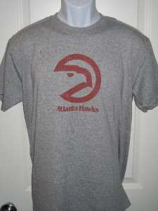 Atlanta Hawks 70s Throwback Logo NBA T Shirt Large