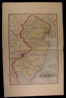 New Jersey Trenton Atlantic City railroads 1884 Stebbins antique folio
