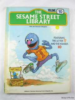 1978 The Sesame Street Library Volume 10 ~ Letter T and the number 10