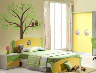 OWL TREE wall decals stickers vinyl kids nursery floral