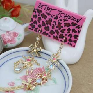 Johnson Lovely Cute Fashion Sweet Aureate bowknot ants Earring Z66