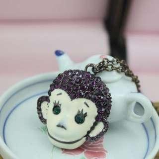 Style Jewelry Betsey Johnson cute monkey Jewelry Necklace BJ046