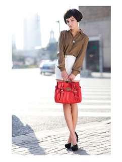 DUDU ladys genuine leather handbag messenger tote bag