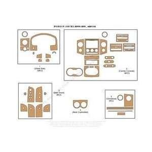 Ford F150 Dash Trim Kit 04 05   42 pieces   Green Carbon