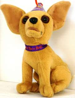 CHIHUAHUA Plush HAPPY NEW YEAR AMIGOS Wearing 2000 PARTY Hat TACO BELL