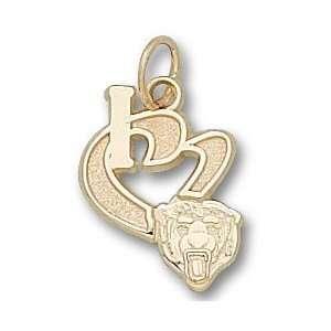 Chicago Bears I Heart Bear Head 1/2 Charm/Pendant