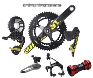 LIMITED SRAM RED YELLOW 8PCS ROAD GROUP CARBON CERAMIC