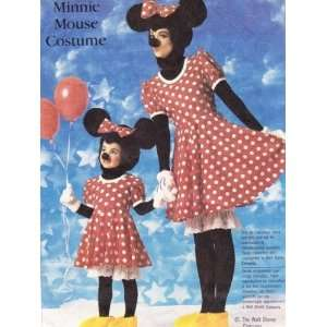 Simplicity 7730 Walt Disney Minnie Mouse Costume Pattern